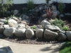 A pondless waterfall, natural river rock.